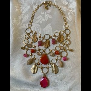 Chico's Natural Stone Statement Necklace